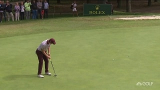 Highlights: Rose (66) rolling in birdies in Italy
