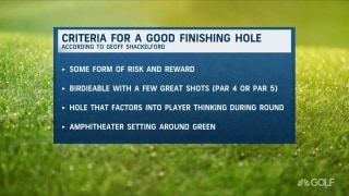 What is the criteria for a good finishing hole?