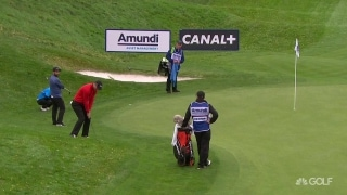 Perfectly played: Kaymer holes delicate pitch for birdie in France