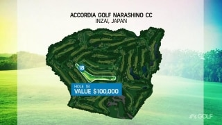 The Challenge: Japan Skins' 18th hole will be worth $100K