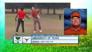 Coach Fields reflects on Longhorns' win at East Lake Cup