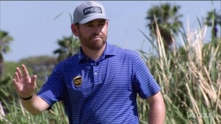 'What a cheer, what a roar, what a birdie' ... Oosthuizen drains it!
