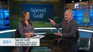 Speed Golf: If Koepka can't play, should Woods pick Todd?
