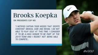 Koepka WDs, Woods names Fowler to U.S. Presidents Cup team