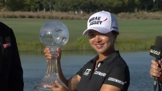 S.Y. Kim hoists the hardware at CME Group Tour Championship