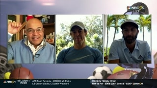 Tirico, birthday boy McIlroy trade hair jabs