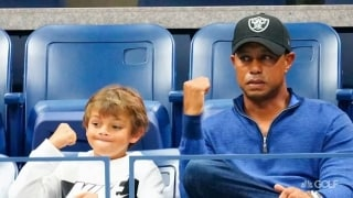 Tiger to play with son Charlie at PNC Championship
