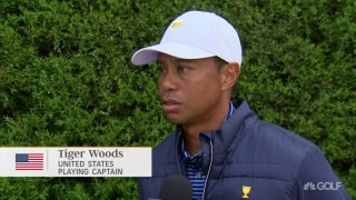 Who had the better Friday at Presidents Cup? Tiger: 'We did'