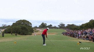 Tiger answers Ancer, goes 1 up in singles match