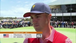 Thomas: 'He's Tiger Woods,' and he carried me today