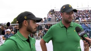 Leishman: Get Ancer on the green and he will make the putt