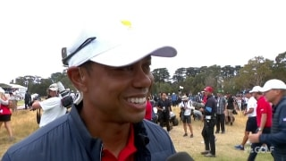 Tiger gets emotional: 'We did it together... we came here as a team'