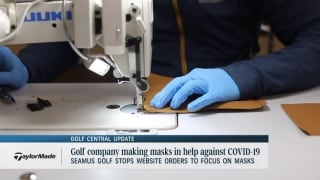 Golf Central Update: Golf equipment company now making medical masks to donate