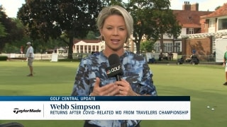 Golf Central Update: Simpson returns after COVID-related WD