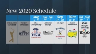 Golf Central Update: Revised major event schedule