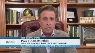Golf Central Update:  Tour looking at larger fields upon return
