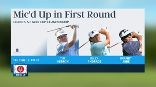 Golf Central Update: Andrade, Herron, Jobe mic'd up at Charles Schwab Cup