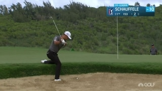 Schauffele (71) digs deep to maintain solo lead at TOC