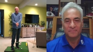 Flesch analyzes COVID-19's impact on golf, shows home putting setup