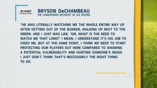 Bryson confronts cameraman for potentially hurting his image