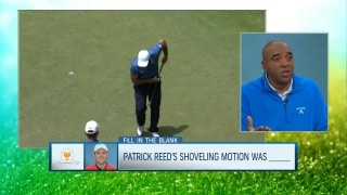 Fill in the Blank: Reed taunting crowd with shoveling motion was ...