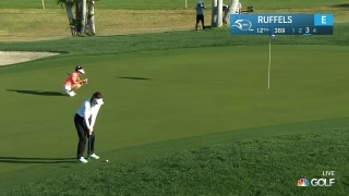 Ruffels chips in for birdie twice in first round