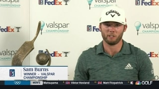 Sam Burns recalls backyard putting green after Valspar
