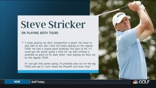 Can Stricker play both tours at same time?