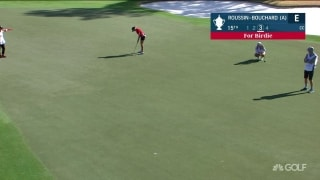 Roussin-Bouchard follows long birdie with near-ace