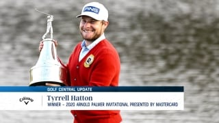 Tyrrell Hatton looks to defend at Arnold Palmer