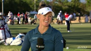Amy Olson: Patience was key to strong first round