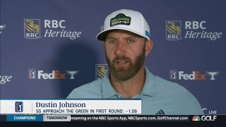 Johnson battles 'tricky' greens at RBC Heritage