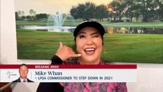 Kim 'devastated' LPGA commish Whan will step down