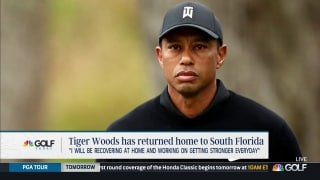 Tiger returns home to continue his recovery