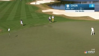 Chun sinks long birdie on Hole 15 to go to 9 under
