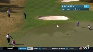 Highlights: Allen hits long chip to eagle No. 13