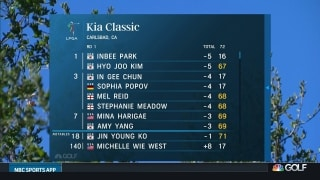 Wie West had a 'rusty' first round at Kia Classic