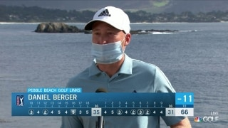 'Patience' key for Berger during Rd. 2 at Pebble