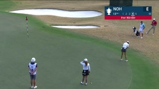 Noh sinks long putt for birdie at No. 13 in first round