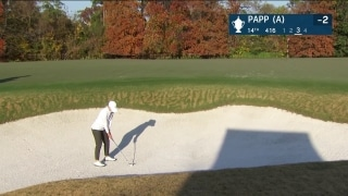 Papp hits bunker shot at 14 to remain 2 under par