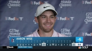 Everything worked for Wise in Round 1 at The Honda Classic