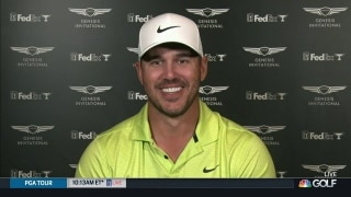 Koepka broke two sets of irons out of frustration