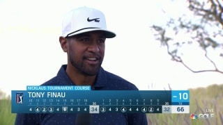 Finau notices differences in greens at Amex