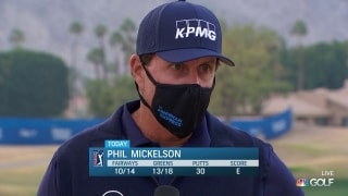 Phil Mickelson taking away positives from AmEx Round 2