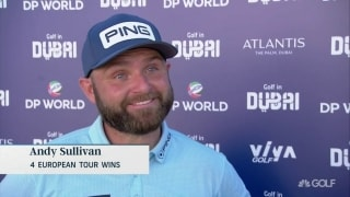 Sullivan finds rhythm late, keeps lead in Dubai