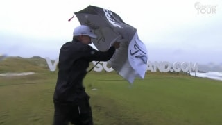 Highlights: Players battle brutal conditions Saturday at Scottish Open