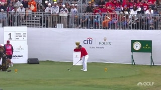 Tiger splits the fairway to start Presidents Cup