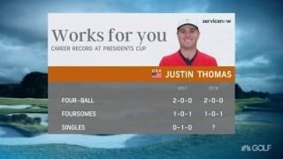 JT unbeaten in four-ball, foursomes in Presidents Cup
