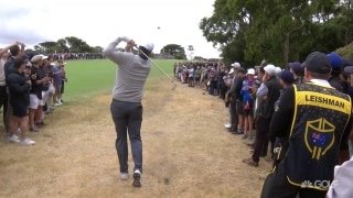 Beware of fliers: Leishman nearly hits birds on two different shots