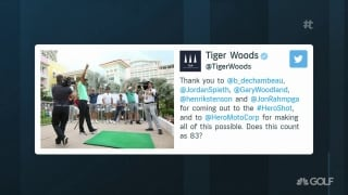 Tiger wins first Hero Shot competition at Hero World Challenge